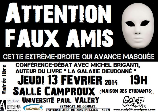 Conférence-débat le 13 février : «Attention faux amis ! Cette extrême-droite qui avance masquée»