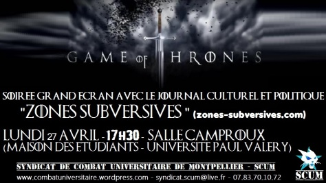 game of thrones 27 avril