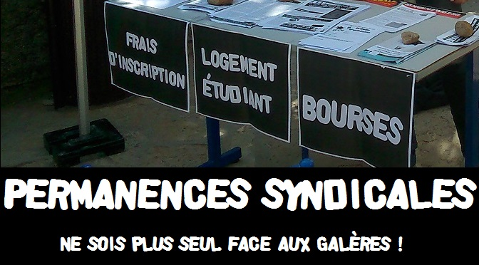 Permanences syndicales de novembre