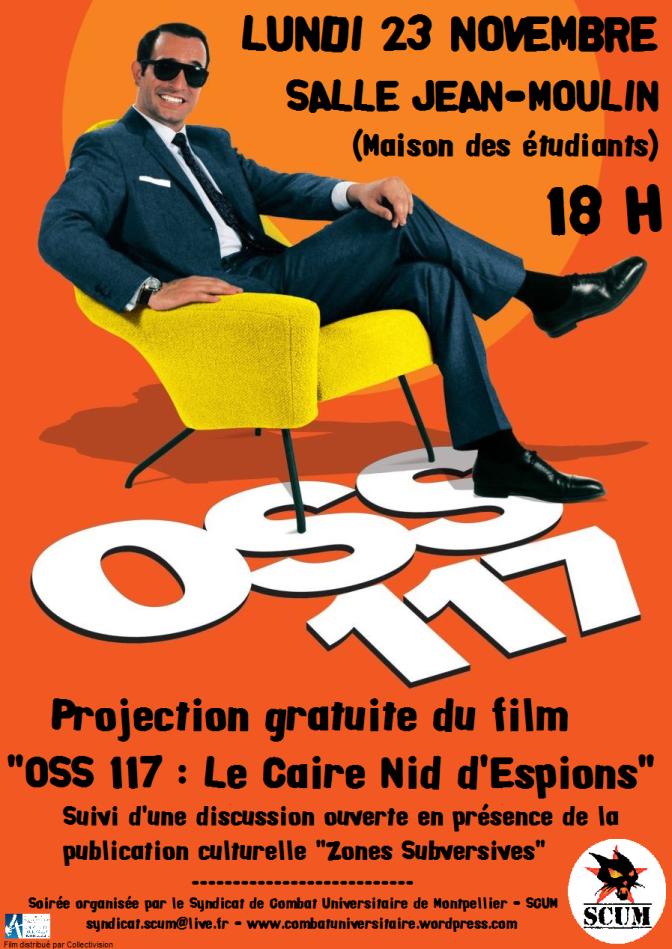 «OSS 117 : Le Caire Nid d'espions» : projection et discussion lundi 23 novembre