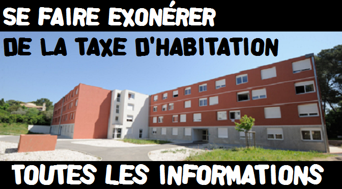 Se faire exonérer de la taxe d'habitation. Les informations pratiques.