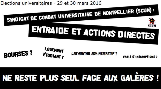 Élections à l'Université Montpellier 3 les 29 et 30 mars.