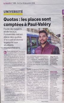Gazette de Montpellier du 8 décembre 2016
