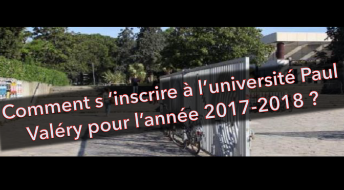 S'inscrire à l'université Paul Valéry – Montpellier 3