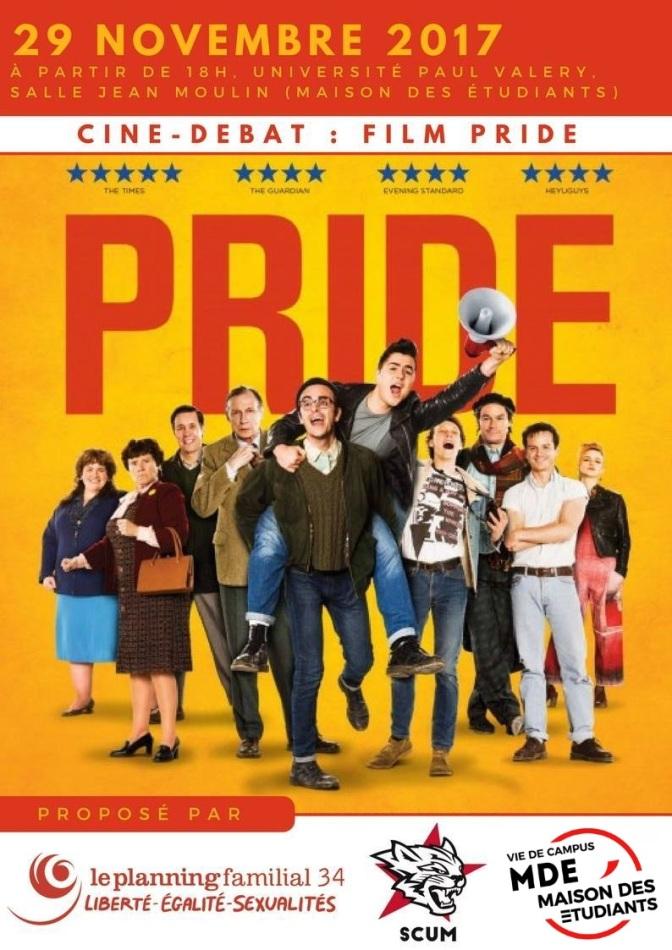 Projection-débat «Pride» mercredi 29 novembre