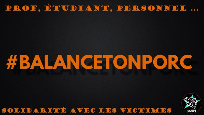 A la fac comme partout, #BalanceTonPorc!