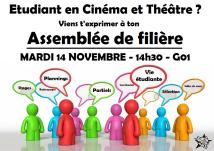 Cinéma/théâtre MARDI 14 NOVEMBRE G01 14h30