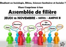 Sociologie/ethnologie/sciences-sanitaires et sociales : JEUDI 16 NOVEMBRE, 10H15, AMPHI B
