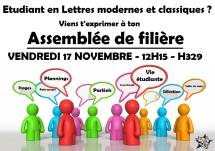 Lettres Modernes, lettres classiques, VENDREDI 17 NOVEMBRE, 12H15, H329