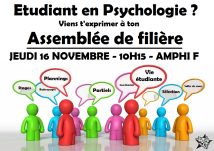 Psychologie, JEUDI 16 NOVEMBRE, 10H15, AMPHI F
