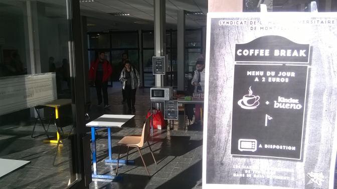 «Coffee break»: le SCUM ouvre une cafétéria étudiante à l'université Paul Valéry
