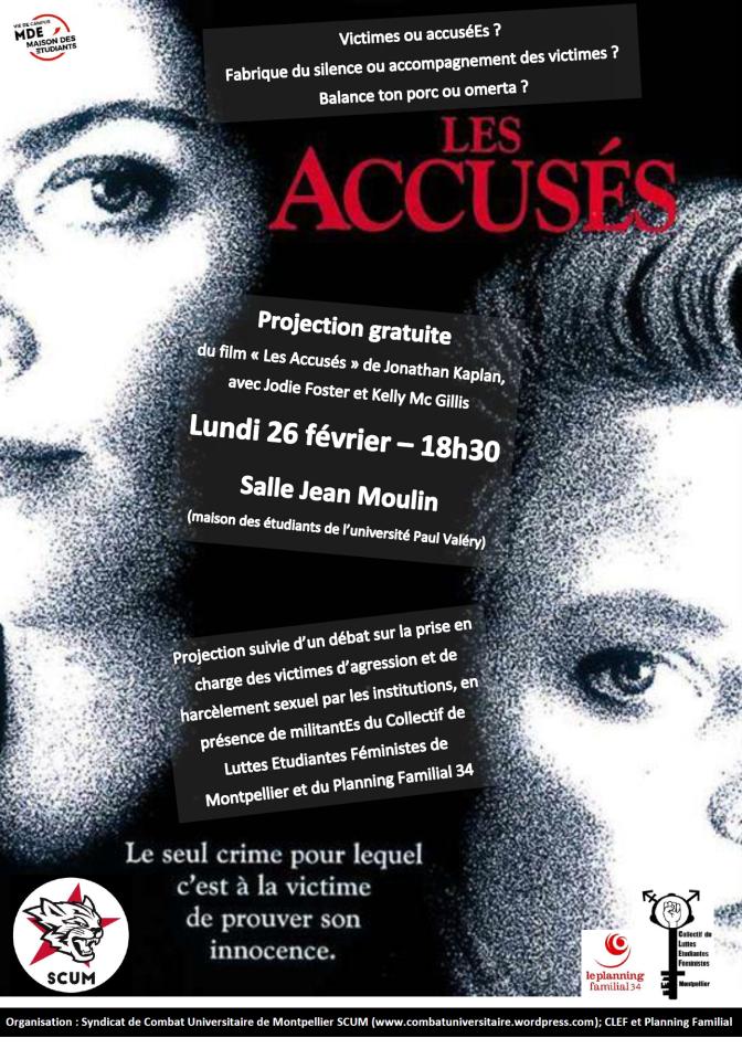 Victimes ou AccuséEs ? Projection-débat gratuite lundi 26 février