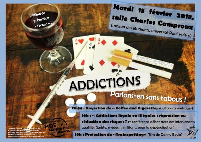 Addictions : parlons-en sans tabous ! mardi 13 février